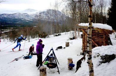 Guriberget er et yndet turmål for de minste skiløperne i Stølen. Foto: Margrete V. Blokhus