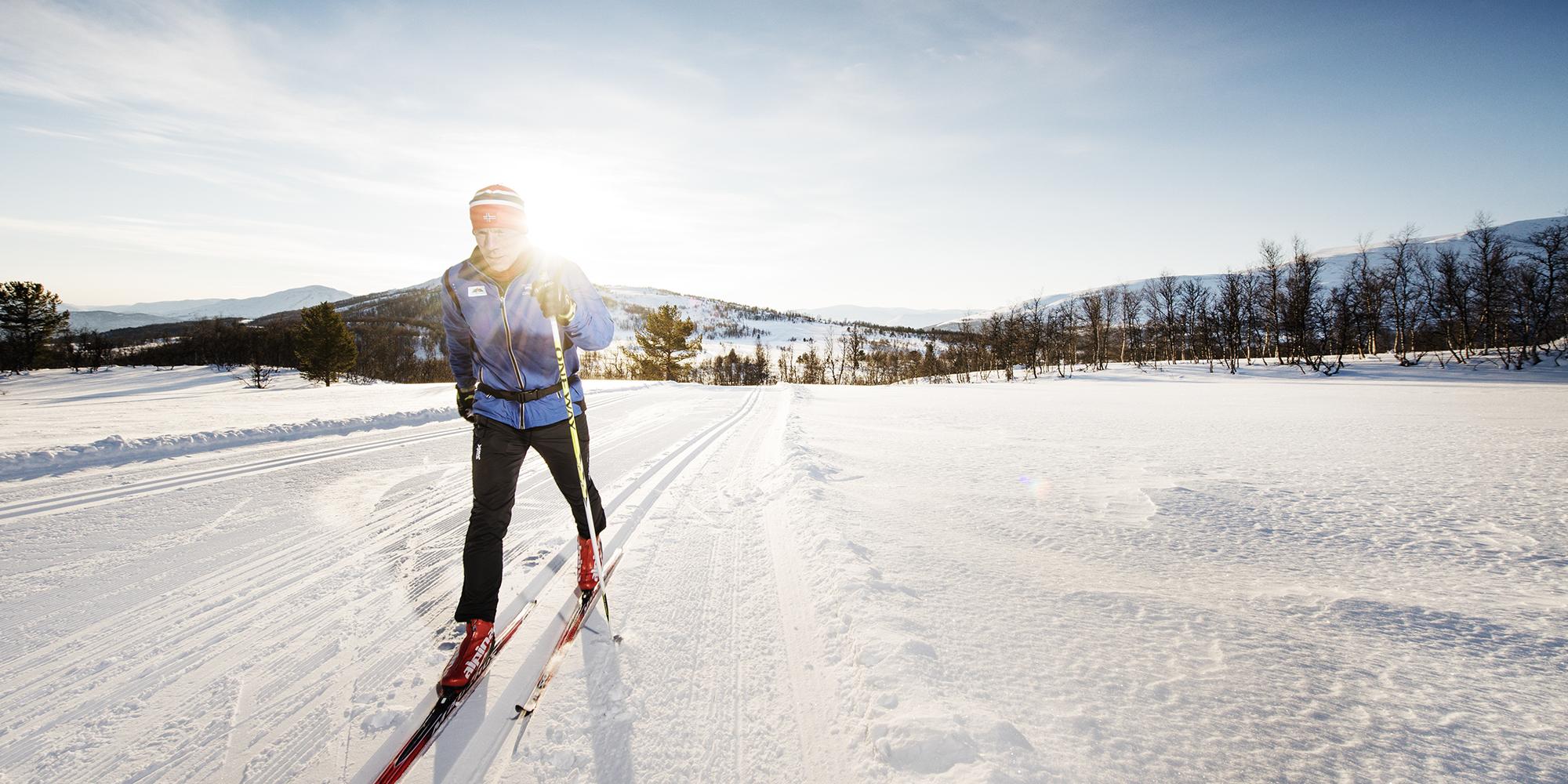 Langrennsløper på Skaret. Foto: Martin I. Dalen